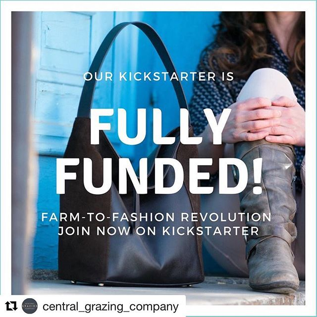We are so proud of our friends and partners at @central_grazing_company! Congrats on this next big step for your amazing company and farmers, and for regenerative agriculture here in the Midwest. PS it's not too late to join -- click to link in their bio. ・・・ When we launched our Kickstarter campaign, we had no idea how consumers would respond to purchasing clothing from farmers. The success of our campaign proves that you care about cleaning up the leather industry.  We fully know that we are one of the first to offer traceable leather, however, a new leather industry is emerging and soon we will have many responsible leather options available to us! Thank you for being pioneers in creating this #farmtofashionrevolution. If you still want to join, click the link in our bio.