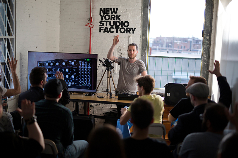 Interactive Moog Workshop at NYSF, April 28, 2017 // Photo: Adam Bezer