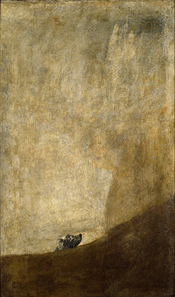 The Dog , Francisco Goya
