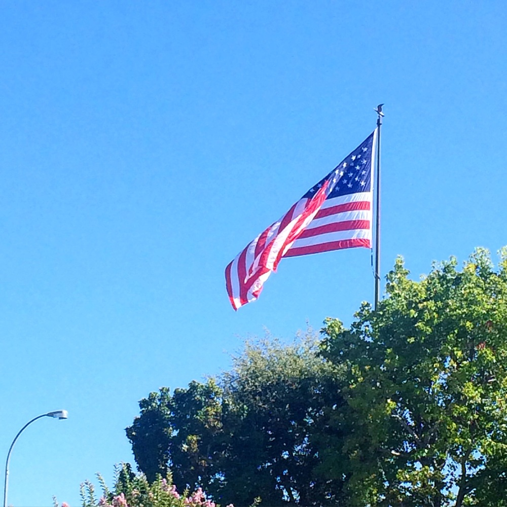 Current view: American flag. Happy 4th of July weekend!