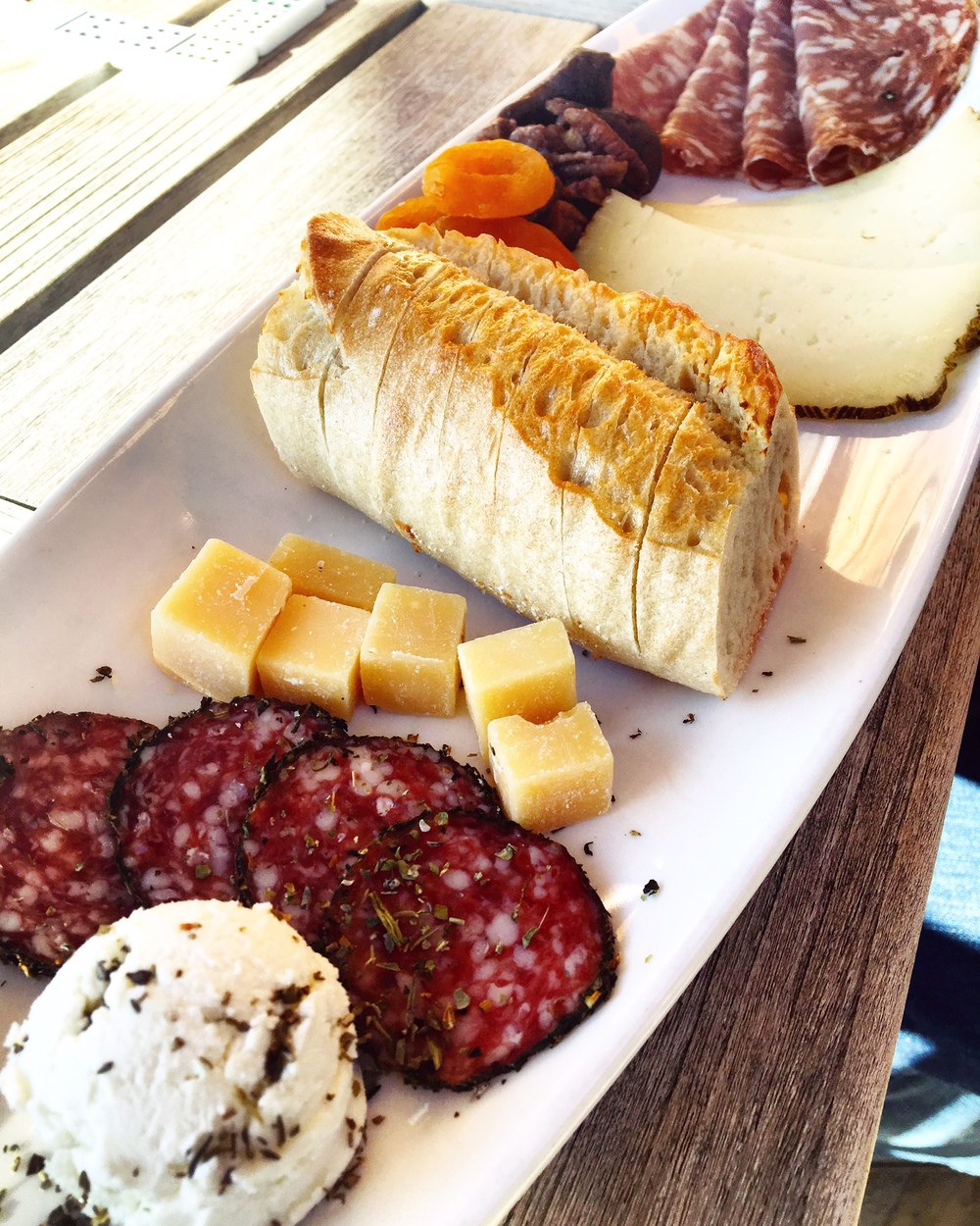 At Roblar, we snacked on cheese & charcuterie while playing dominos. More games!