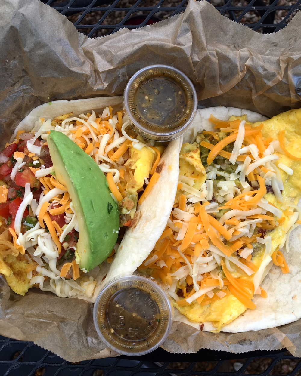 THE MONK SPECIAL & THE MIGAS CUDDLED TOGETHER WAITING FOR SALSA VERDE.