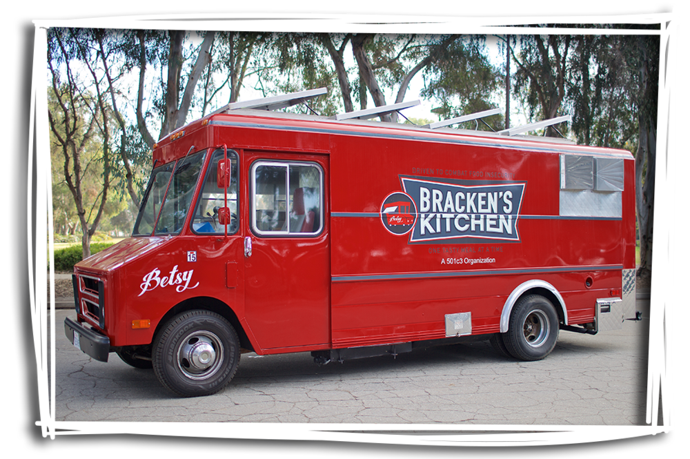 Meet Betsy! The ruby red wheels of Bracken's Kitchen!