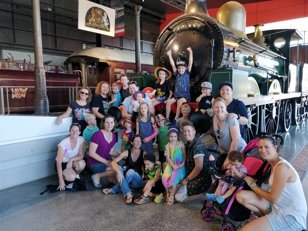 Macarthur Rainbow Families visits the NSW Railway Museum at Thirlmere, in March 2018