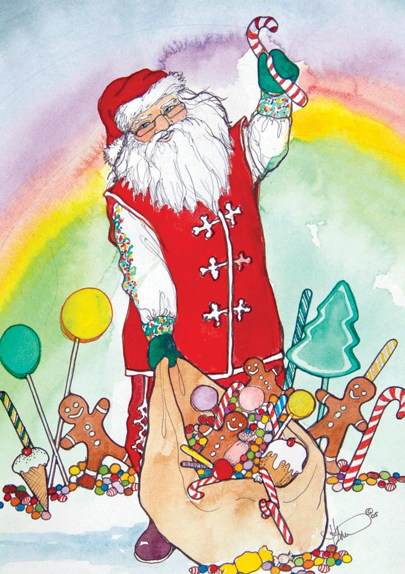 CH20 Candy Cane Santa