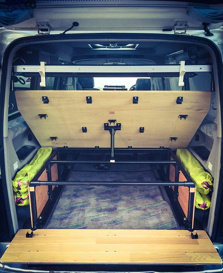storage areas in Japan camper van