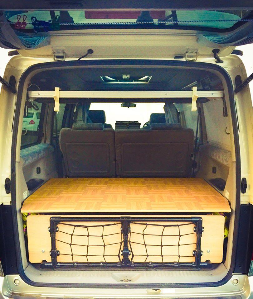 Japan camper bed platform