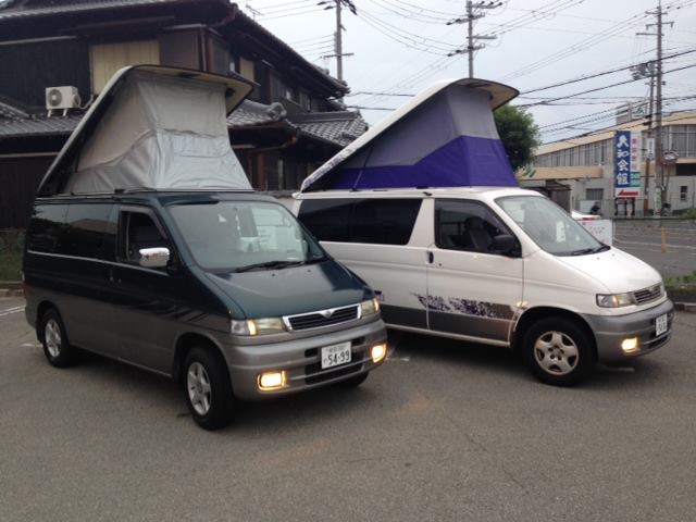 Japan Campers with pup-up roofs