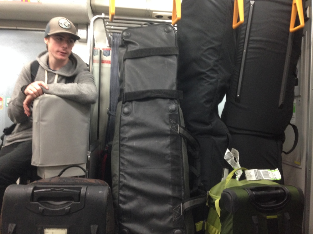bags on a train