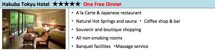 Tokyu Hotel Package Deal