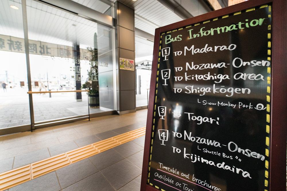 Bus platform info