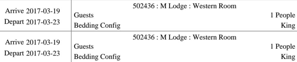 M Lodge Reservation