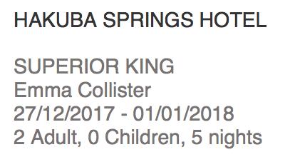 Hakuba Springs Hotel reservation