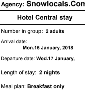 central hotel booking