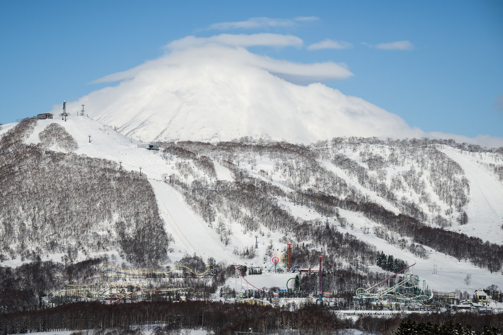 Resutusu Resort has a full summer theme park at the base of one skiable peak