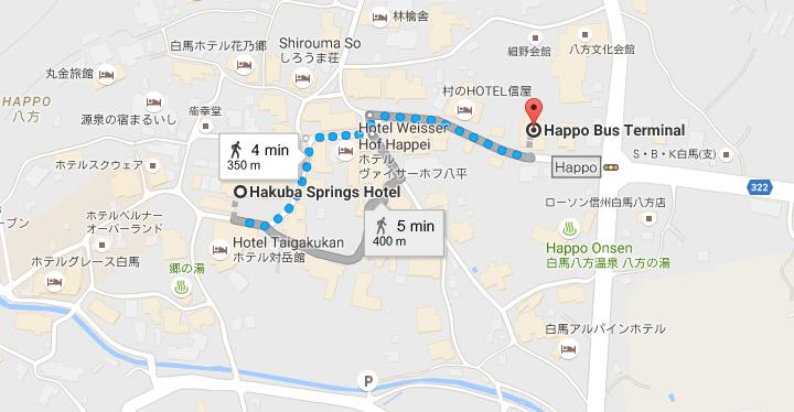 bus stop to hakuba springs hotel