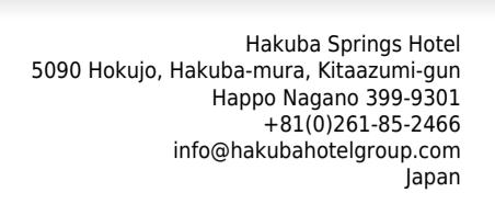 Hakuba Springs Hotel address