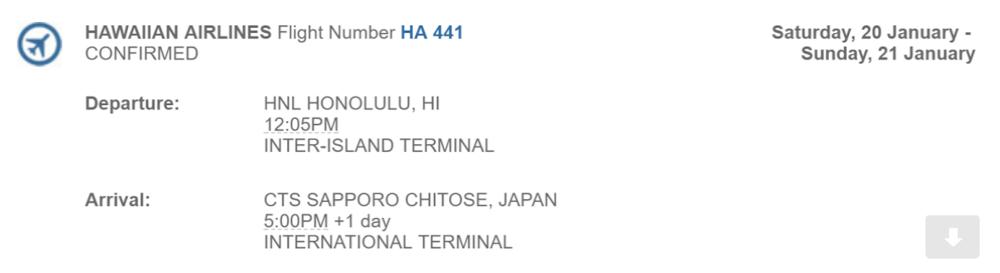 Flight to CTS