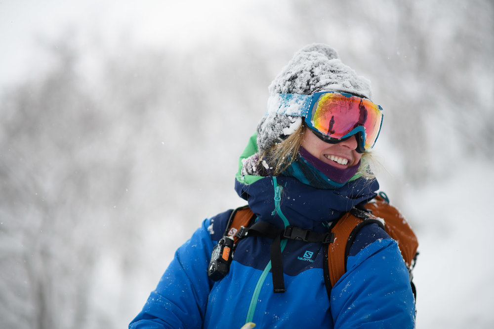 Maddie, a 27 year-old Colorado native, was born and bred in the mountains of Telluride. When her parents strapped a pair of skis on her feet at the young age of 2 and there was no looking back. She raced competitively in high school, but switched her focus to big mountain competitions and backcountry skiing when she moved to British Columbia to attend university. She spends the summers working as a mountain guide on Mt. Shasta in northern California and works part time as a cat skiing guide in the winter. Maddie's skiing passion has taken her to Europe, Japan, Canada and all over the western US. Last year she completed her Canadian Avalanche Association Operational Avalanche course and is currently a member of the Salomon Ambassador Team..  Connect with Maddie on her  Instagram