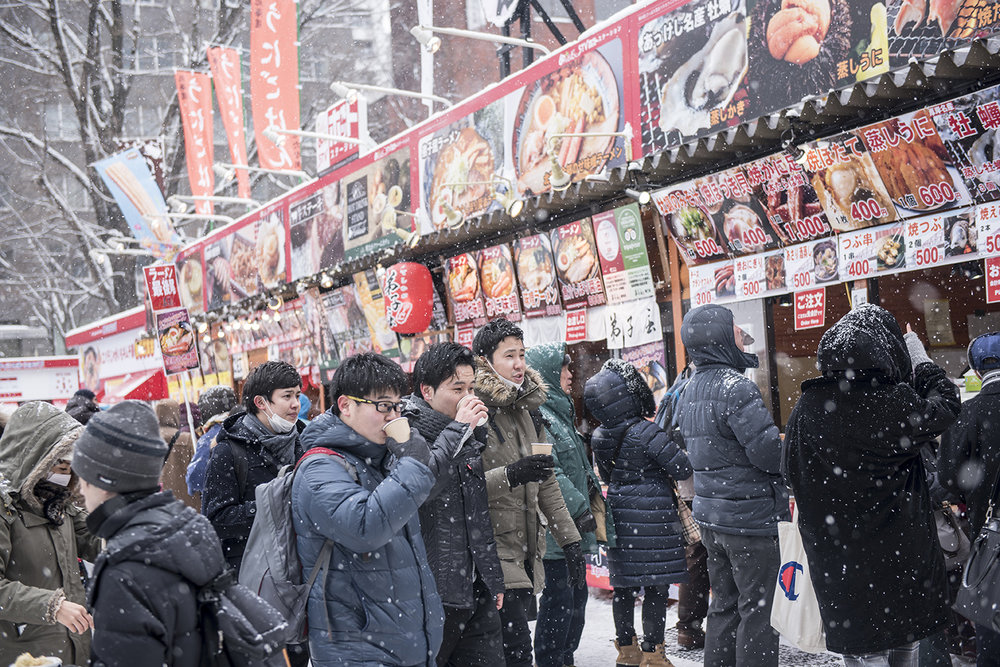 Food court at Sapporo Snow Festival