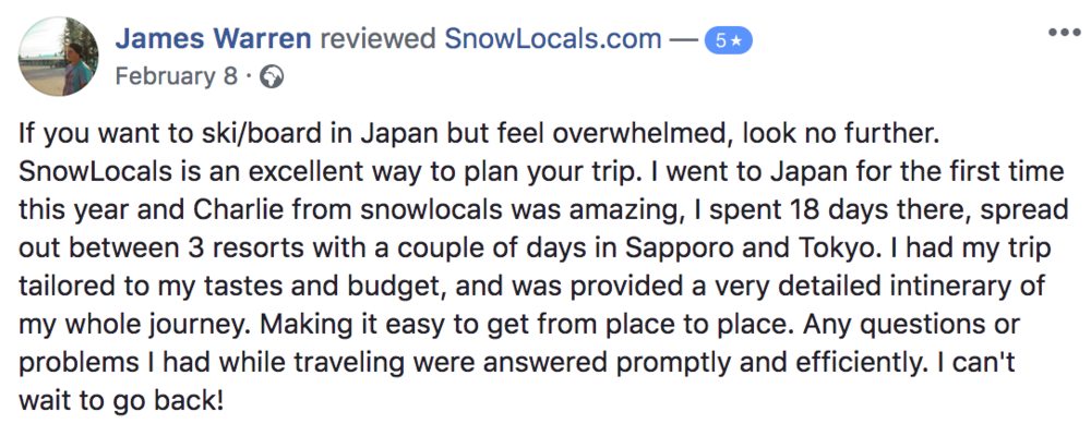 Solo trip review snowlocals