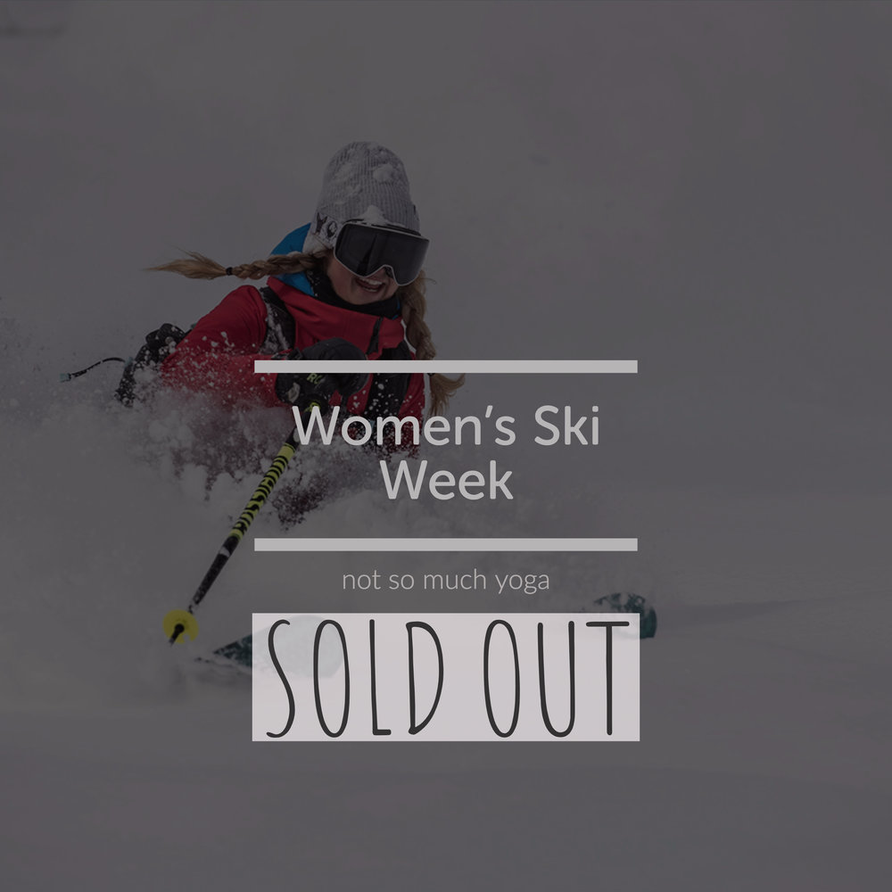 Snowlocals women's ski week