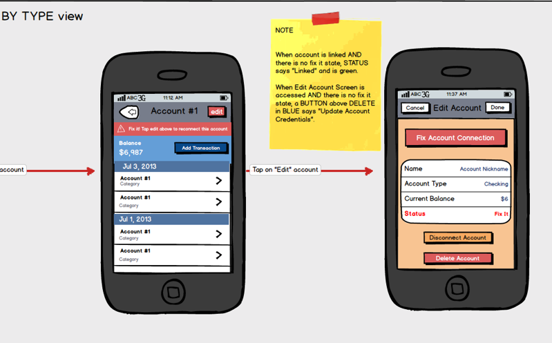 Mobile Add Account User Flow