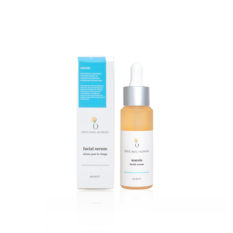 Lightweight and finely textured, meant to nourish and improve hydration, for drier skin types. - With a base of Marula oil, this serum is perfect for those looking to improve moisture levels and restore balance with a lightweight, non-greasy feel. Deeply penetrating, and rich in Vitamins A, B, D, amino acids, potassium, Vitamin E and essential fatty acids, this blend soothes inflammation, reduces redness and nourishes.