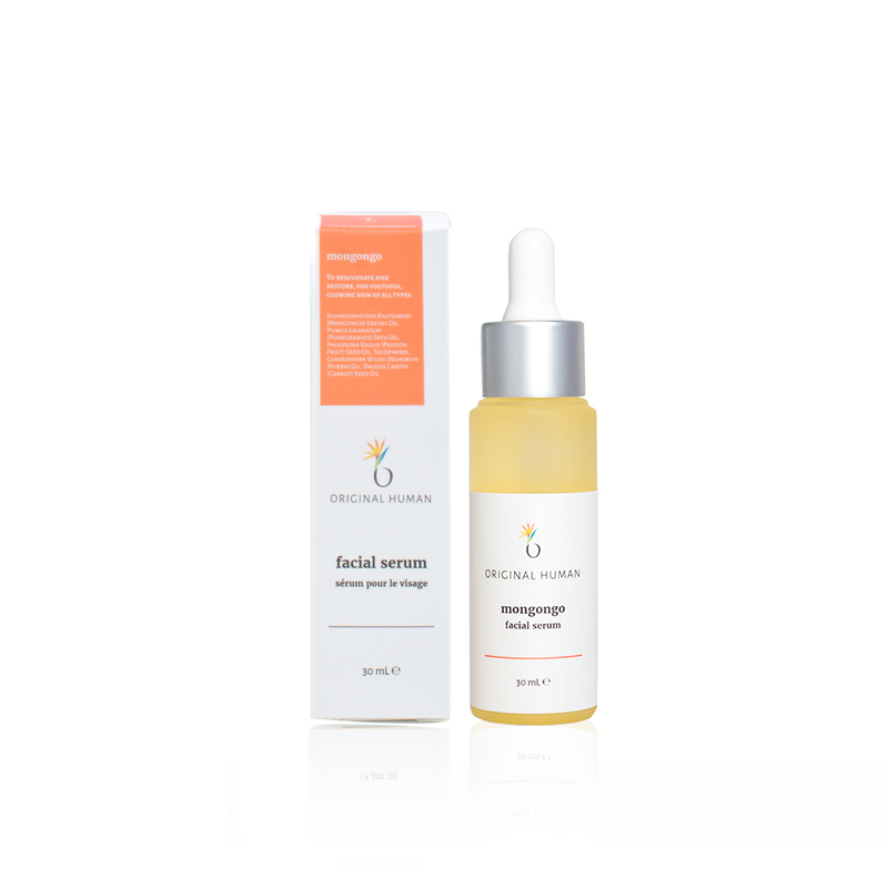 To rejuvenate and restore, for glowing skin of all types. - This Mongongo oil-based serum is perfect for those looking to smooth out rougher texture, fine lines, and wrinkles. Natural antioxidants combat damage and signs of aging, making this oil perfect for both day and night use. Anti-inflammatories like zinc reduce redness and keep skin calm, while essential fatty acids strengthen the skin's barrier and protect against dryness, helping with moisture retention without being greasy.