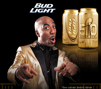 J.B. Smoove  for  MINIBAR Bud Light  and  Super Bowl 50   Client : Anheuser-Busch  Agency : Eyeball NYC