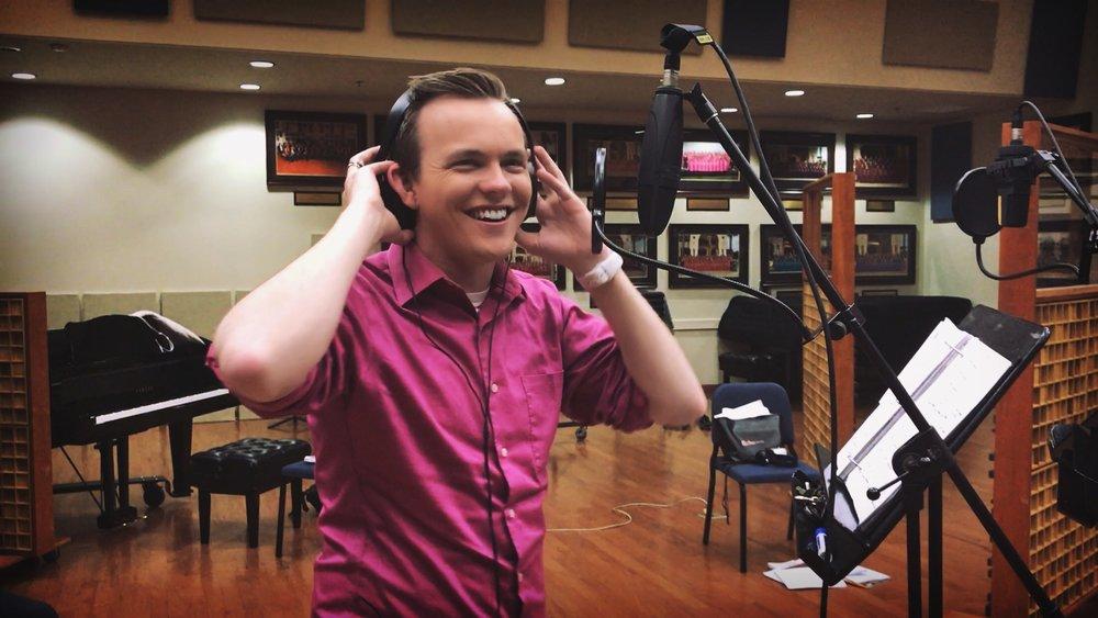 Connor in the studio