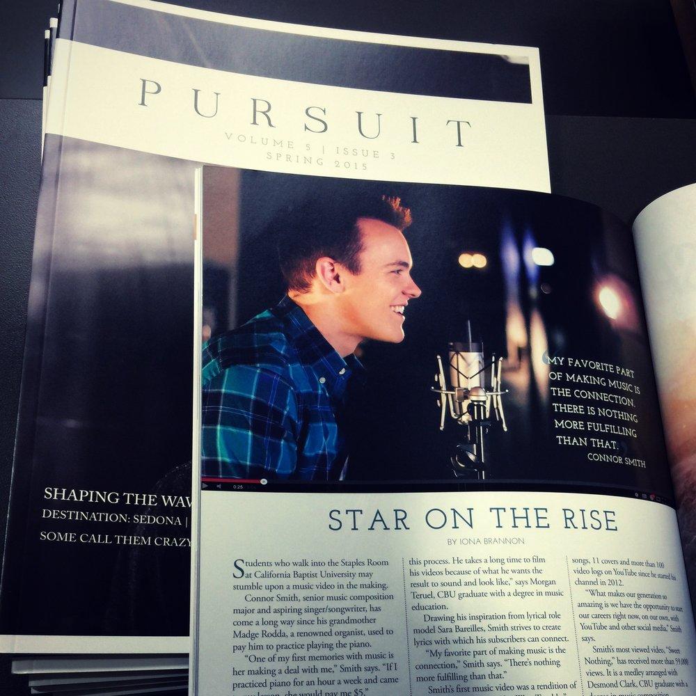 Spread in Pursuit Magazine