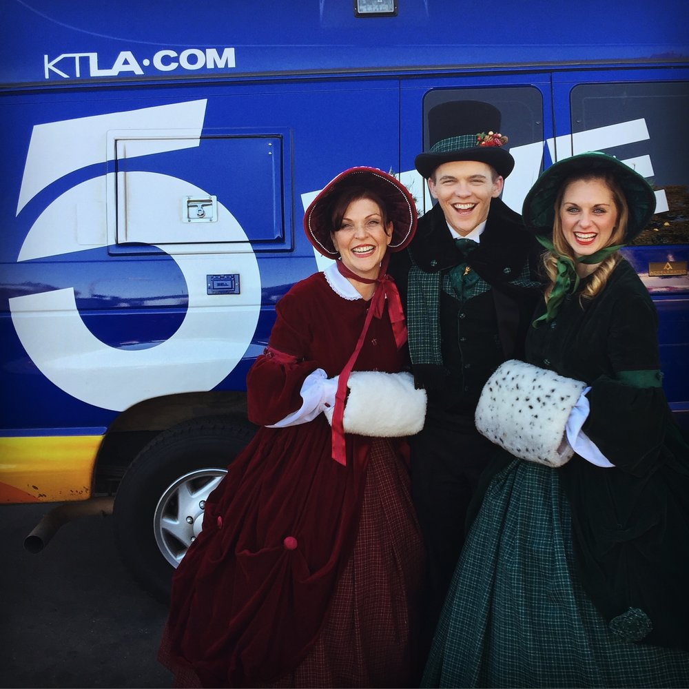 Singing on KTLA5 with the Definitely Dickens Holiday Carolers