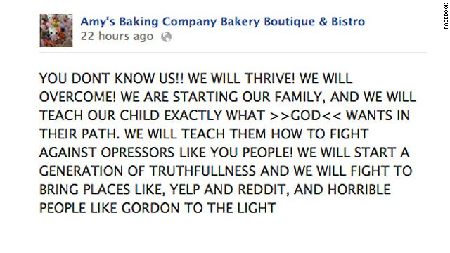 Remember the explosion of Amy's Baking Company?