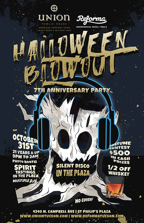 Come celebrate our anniversary on Halloween Night! - • Costume contest with $500 in cash prizes 🎃😈 👻• Photo Booth• SPIRIT tastings in the plaza• Multiple DJs• 1/2 off whiskey-------------9pm to 2amOctober 31, 201821 years and upNO COVER!-------------SILENT DISCO IN THE PLAZA