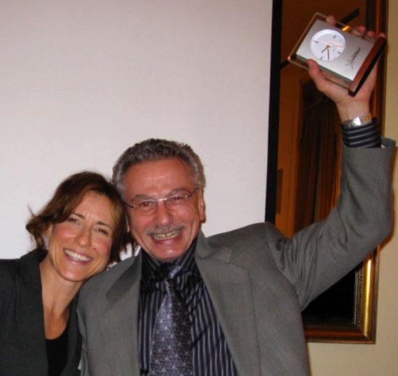 Lisa Baruch (Crossroads Centre Antigua) & Dr. Michael Picucci at the Harvard Club Awards Ceremony