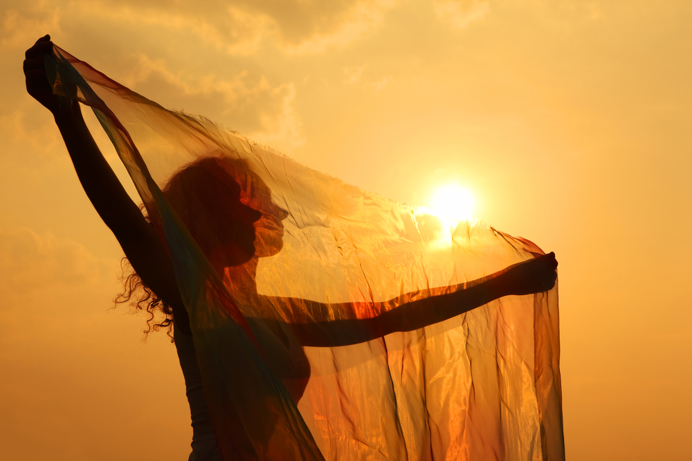 Photo:     ©  Paha_l  |  Dreamstime.com  -  Silhouette Of Woman With Transparent Cloth Photo