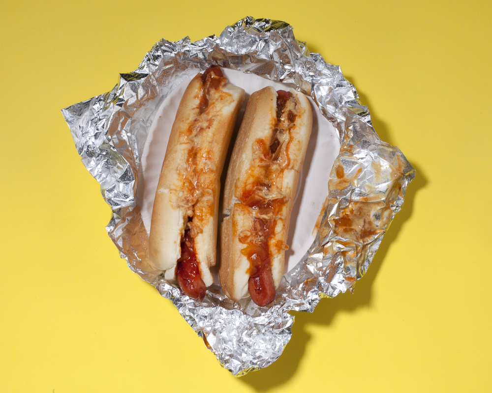 2 Hotdogs with Ketchup, Onions, and Mustard (2013)