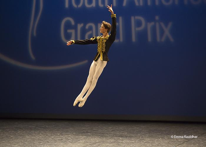 Gabriel Rajah at the Youth America Grand Prix Semi-Final in Paris.