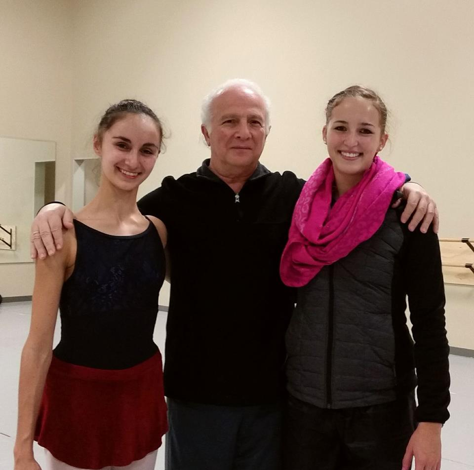 World Ballet Arts Competition Finalists Corinne and Brianna with Mr. Makhateli