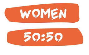 Women 50:50  is the Scottish camapign for gender balance in Scottish Politics. The campaign was officially launched by Kezia Dugdale (Lothians MSP for Scottish Labour) and Alison Johnstone (Lothians MSP for the Scottish Green Party) in September 2014 and has been founded by life long feminist campaigners.