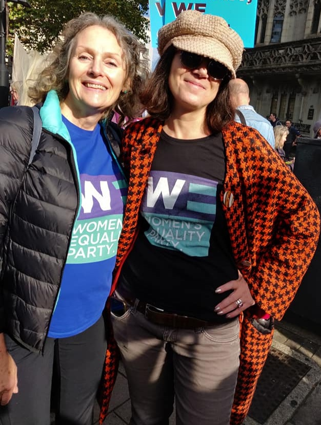 Jane (left) poses in WEP gear
