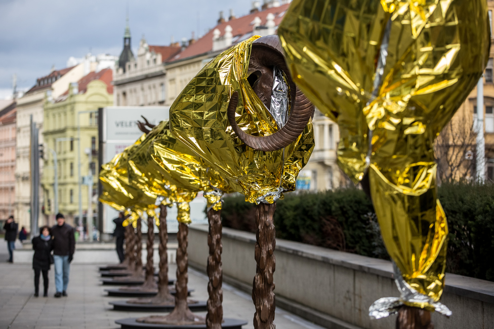 Zodiac Installation by Ai Weiwei in Prague, Czech Republic