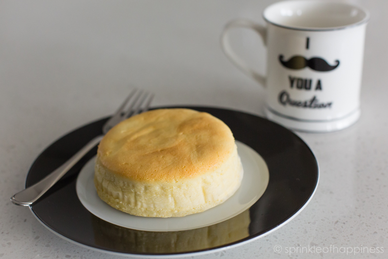 Japanese cheese cake. I mustache you a question mug