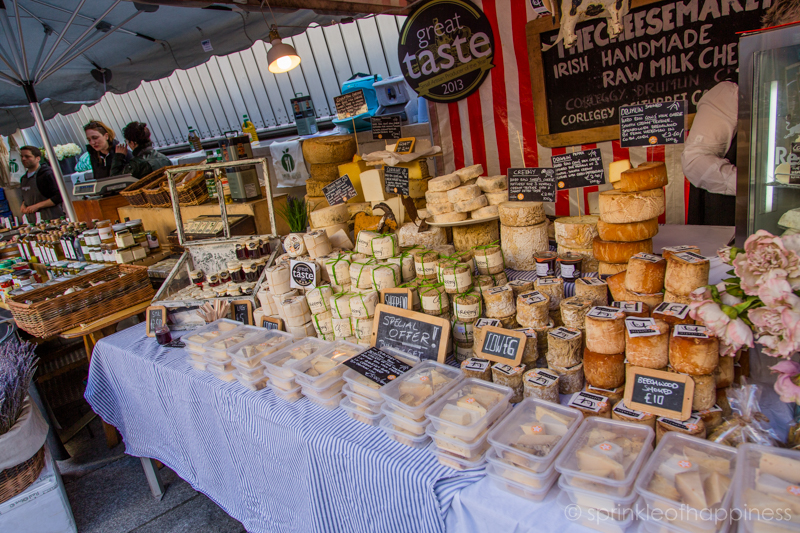 Saturday Dublin Food market - Cheese stall