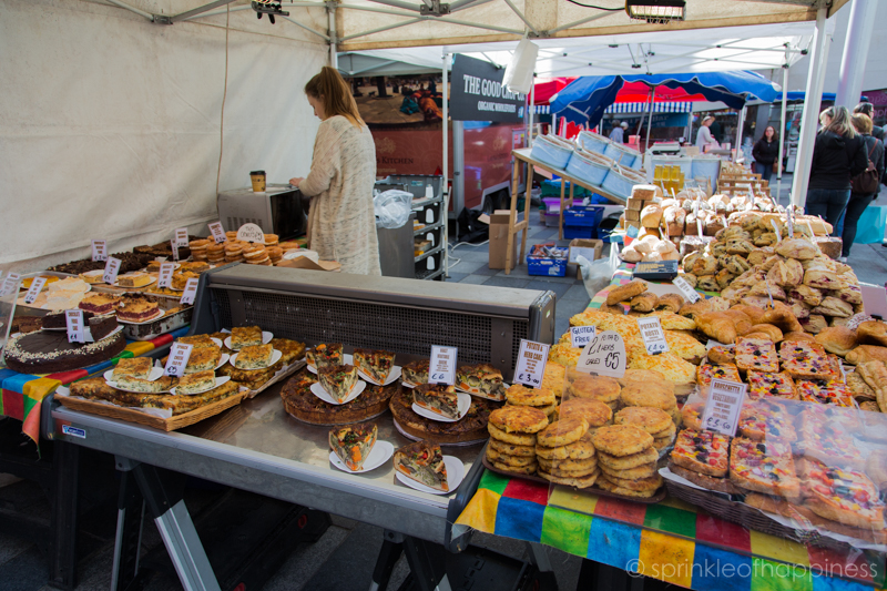 Dublin food market - Pastries and baked goods