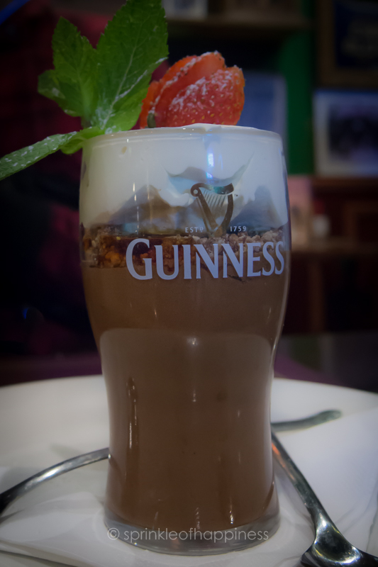 Guinness infused chocolate mousse