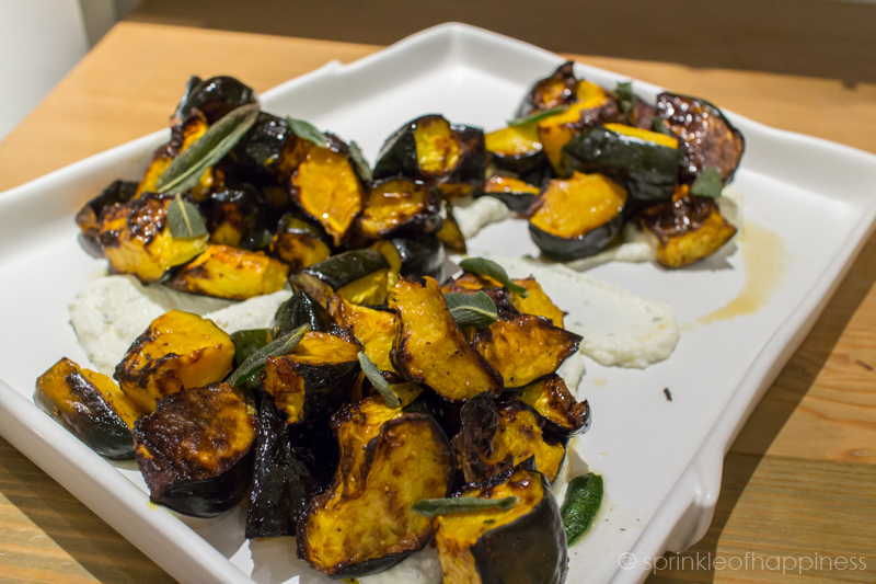 Side Dish - Roasted Acorn Squash with Brown Butter, Ricotta and Sage