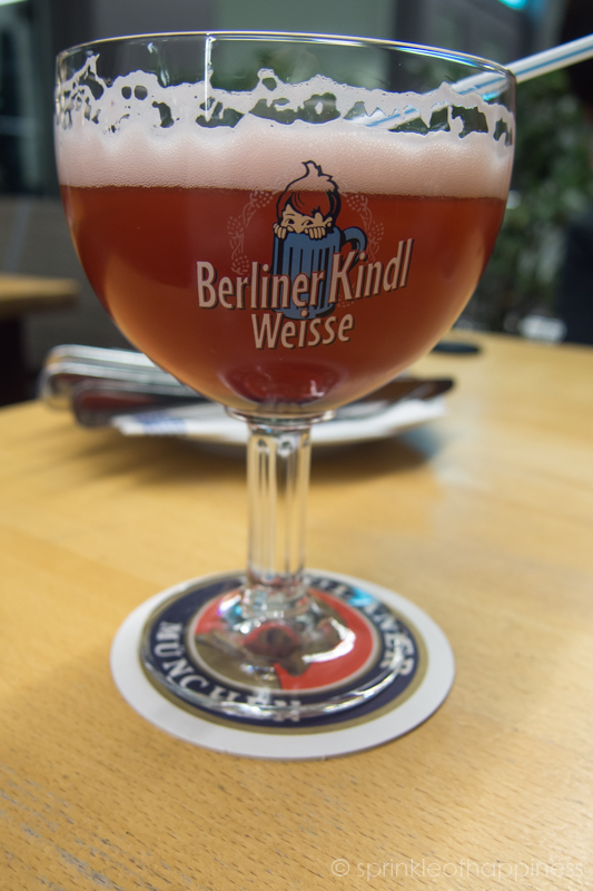 Berliner Kindl Weisse - Raspberry syrup