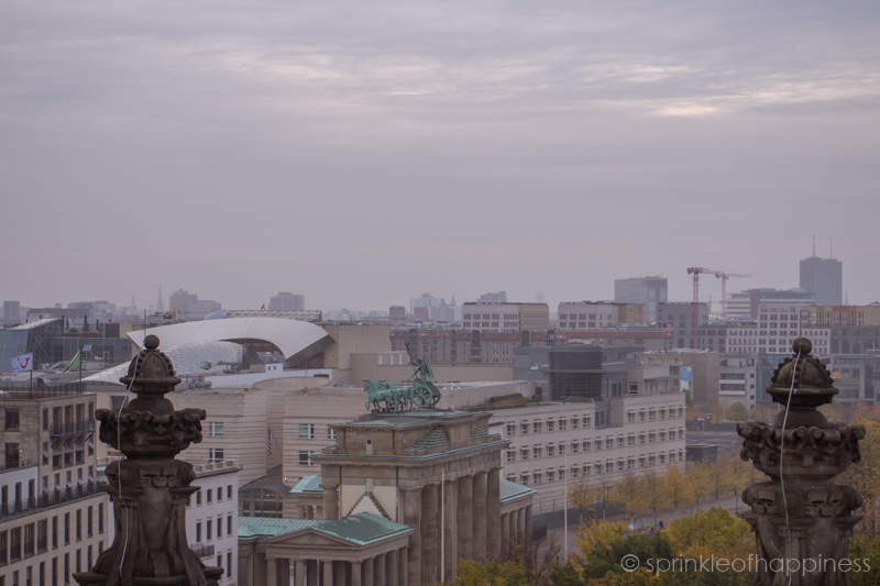 Skyline view of Berlin on top of Reichstag Building - Brandenburg Gate